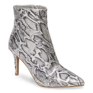 BP. SILVER PRINTED FAUX SNAKE Maisie Bootie